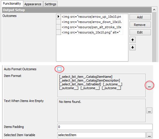 Symantec Workflow ListSelect Interior