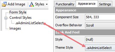 Symantec Workflow - Apply a Custom Control Style
