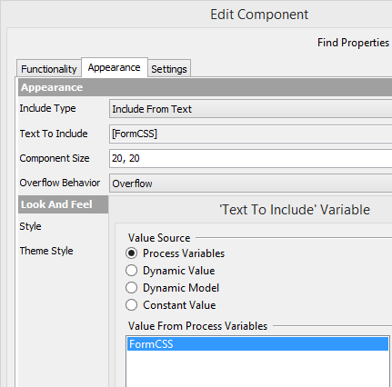 Symantec Workflow IncludeHTML Component