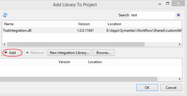 Symantec Workflow Custom Library Import
