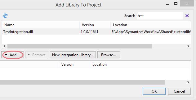 Symantec Workflow Custom Library Import